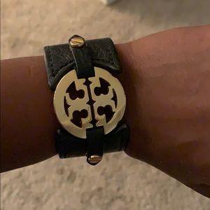 Tory Burch Leather Logo Bracelet